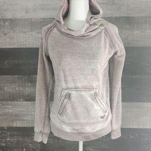 ROXY acid distressed cowlneck hoodie